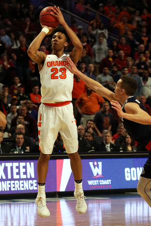 No. 10 seed Syracuse takes on No. 1 seed Virginia in the Elite Eight on Sunday. Our beat writers discuss three topics surrounding the matchup.